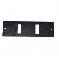 2SC Duplex front panel for UA-FOBC-B, black