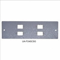 4SC Simplex front panel for UA-FOBC-G, gray