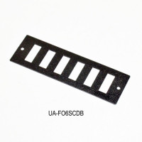 Front panel 6SC Duplex for UA-FOBC-B, black