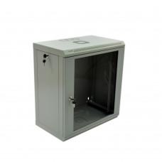 Cabinet 12U, 600х350х640 mm (W * D * H), Economy, acrylic glass, gray.
