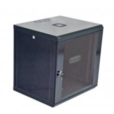 Cabinet 12U, 600х600х640 mm (W * D * H), Economy, acrylic glass, black.