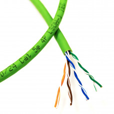 U/UTP cable, cat. 5E, AWG 24, LSZH, green, 305m,  Corning