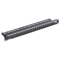 Патч-панель для 24 модулів Keystone 19'', 1U, чорна, Corning