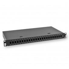Оптоволоконна комунікаційна панель 19-дюймова 1U для LC Duplex, пуста, чорна