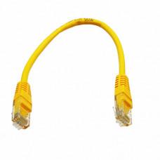 Patch cord UTP, 0,25 m Cat. 5e, yellow