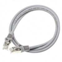 Patch cord S/FTP Cat. 6A, grey, 0.5 m