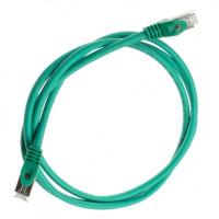Патч-корд S/FTP, 0.5 м, кат. 6А, зелений, LW