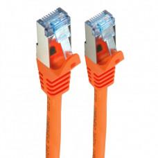 Патч-корд S/FTP, 1 м, кат. 6А, помаранчевий, LW