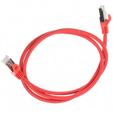 Patch cord S/FTP Cat. 6A, red, 0.5 m