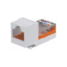 Category 5e, 8-position, 8-wire, keystone leadframe jack module, arctic white