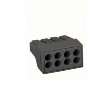Terminal block 8x1 ... 2.5mm2, for 1-wire copper / aluminum (with gel), WAGO
