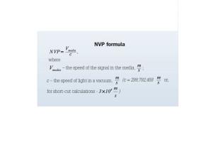 NVP  швидкість поширення сигналу по  кручений парі щодо швидкості світла
