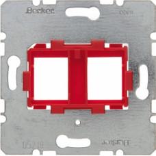 Berker S Опорна пластина з червоною вставкою, 2-місцева, для Modular Jack