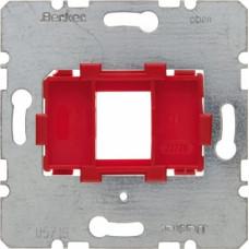 Berker S Опорна пластина з червоною вставкою, 1-місцева, для Modular Jack