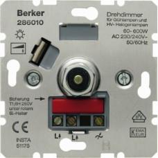 Berker S.1 Rotary-push dimmer 600W
