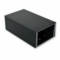 ВО коробка для ВО з'єднань (4 х 16 SC / FC) без лицьової панелі, порожня, чорна.