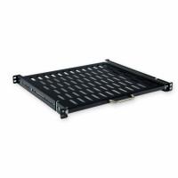 Rackmount Sliding  Shelves, 400mm depth (400 .. 600mm), black.