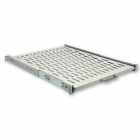 Rackmount Sliding  Shelves, 600mm depth (400 .. 870mm), gray.