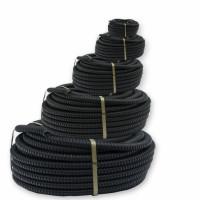 Metal sleeve, D18 mm, galvanized insulated (PVC) black, 25 m