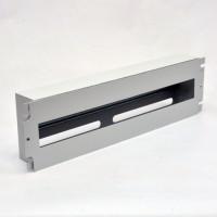 """Panel 3U 19 """" for 24 circuit breakers, gray"""