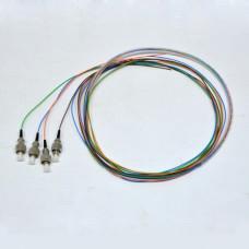 Набір кольорових пігтейлів FC/UPC 1.5 m, SM, Easy strip, для 4 вол
