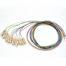 Набір кольорових пігтейлів SC/UPC 1.5 m, MM (OM3), Easy strip, для 12 волокон