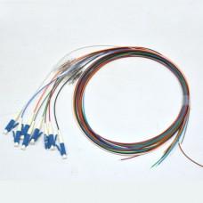 Набір кольорових пігтейлів LC/UPC 1.5 m, SM, Easy strip, для 8 волокон.
