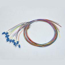 Набір кольорових пігтейлів LC / UPC 1.5 m, SM, Easy strip, для 12 волокон.