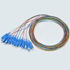 Набір кольорових пігтейлів SC / UPC 1.5 m, SM, Easy strip, для 12 волокон.