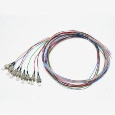 Набір кольорових пігтейлів FC/UPC 1.5 m, SM, Easy strip, для 8 вол
