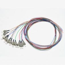 Набір кольорових пігтейлів FC/UPC 1.5 m, SM, Easy strip, для 12 вол