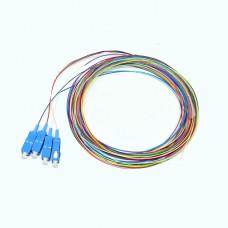Набір кольорових пігтейлів SC/UPC 1.5 m, SM, Easy strip, для 4 волокон