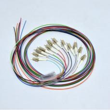 Набір кольорових пігтейлів LC/UPC 1.5 m, OM3, Easy strip, для 12 волокон