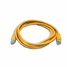 Patch cord UTP, 1 m, Cat. 5e, yellow