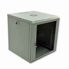 Cabinet 12U, 600х600х640 mm (W * D * H), Economy, acrylic glass, gray.