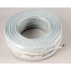 Telephone cable 4-wire, copper, white