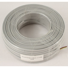 Telephone cable 4-wire, copper, gray