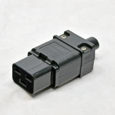Connector socket folding, C19, 16A