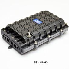 Муфта універсальна, 6 механічних кабельних введення, 4-сплайс Касети, 48 сплайс-протекторів