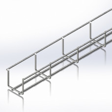 Лоток сітчастий 50х50, дріт Ø4 мм, білий цинк, 2,5м