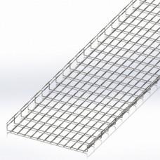 Лоток сітчастий 600х50, дріт Ø5 мм, білий цинк, 2,5м