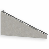 Wall bracket for 600 mm mesh tray, quick installation, 2 mm, zinc-plated.