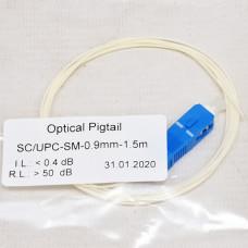 Pigtail SC/UPC 1.5m, SM, Easy strip, fiber Corning SMF28e
