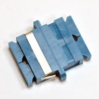 SC adapter single mode, Zirconia sleeve, duplex