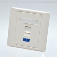 Face plate, single port with shutter, 86×86mm