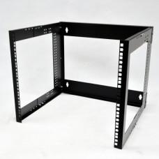 "Bracket wall-mounted 19"" 9U, depth. 280 ... 480mm, black"