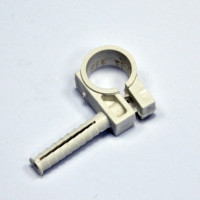 Clip for fixing pipes D18-20, with nut D8 / 36 and the impact screw, gray, INSTAIL.