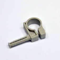 Clip for fixing pipes D20-22, with nut D8 / 36 and the impact screw, gray, INSTAIL.