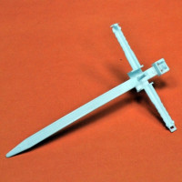 Clamp quick installation with shock screws, dowels D8, screed 110х8mm., White, INSTAIL.