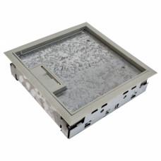 Floorbox for raised floor, 2-section